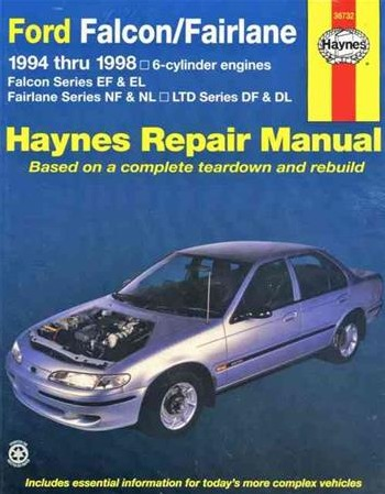 Ford Falcon EF EL / Fairlane NF NL / LTD DF DL 1994-1998 6-cylinder (36732)  Haynes Automotive Repair Manual