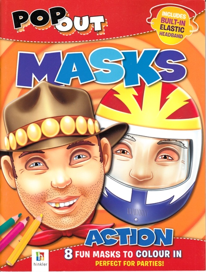 Image for Pop Out Masks: Action # 8 Fun Masks to Colour In, Perfect for Parties