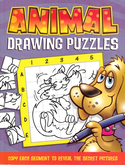 Image for Animal Drawing Puzzles: Copy each segment to reveal the secret pictures