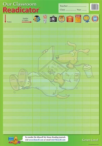 Image for Kluwell Classroom Readicator Green Level A2 Chart (Middle 7-9 years old)