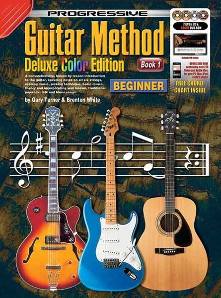 Image for Progressive Guitar Method Deluxe Colour Edition Book 1 Beginner (includes 2 DVDs, CD, DVD-ROM) Teach Yourself How to Play Guitar