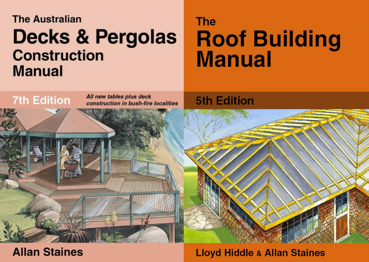 Image for 2 Book Set: The Australian Decks and Pergolas Construction Manual 7th Edition + The Roof Building Manual 5th Edition