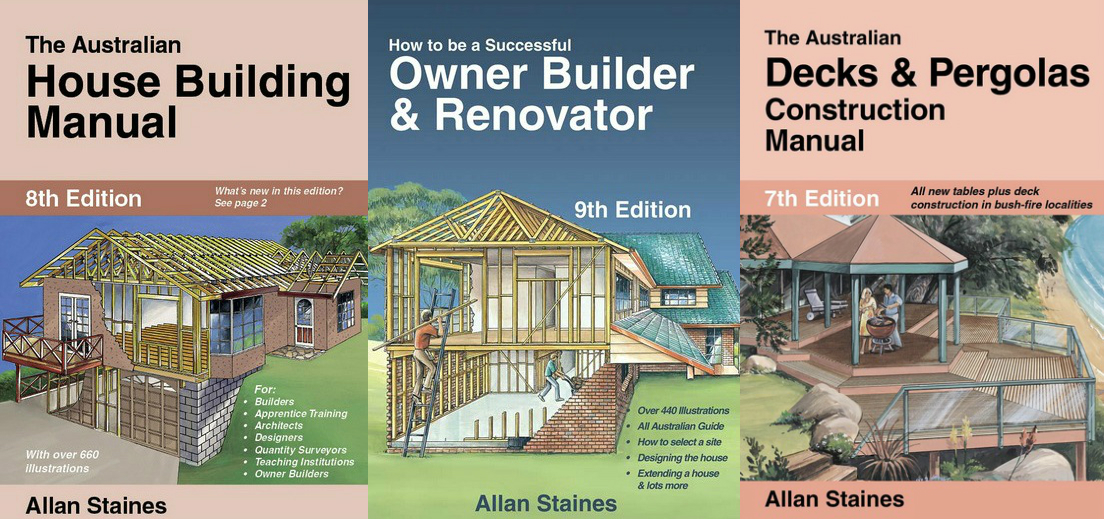 Image for 3 Book Set: The Australian House Building Manual 8th Edition + How to be a Successful Owner Builder and Renovator 9th Edition + The Australian Decks and Pergolas Construction Manual 7th Edition