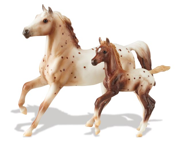 Image for Breyer Horses Classics Collection Chestnut Semi-Leopard Appaloosa and Chestnut Blanket Appaloosa Foal 1:12 Scale 62041 *** Out of Stock ***