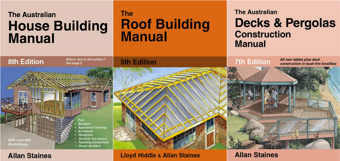 Image for 3 Book Set: The Australian House Building Manual 8th Edition + The Roof Building Manual 5th Edition + The Australian Decks and Pergolas Construction Manual 7th Edition