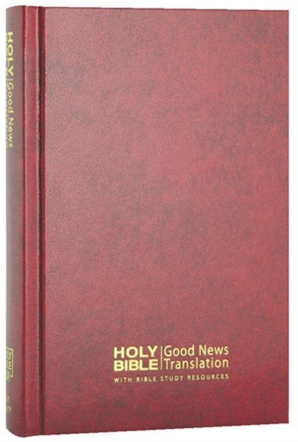 Image for Good News Bible with Bible Study Resources Compact Red Hardcover