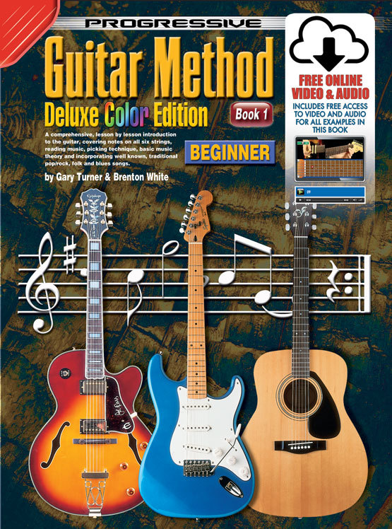 Image for Progressive Guitar Method Deluxe Colour Edition Book 1 Beginner (includes Free Online Video and Audio) Teach Yourself How to Play Guitar *** Temporarily Out of Stock ***
